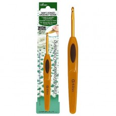 Крючок - Soft Touch Crochet Hook - 4 мм - 13.5 см - Clover