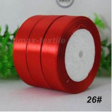 Лента атласная 25 мм. Красный