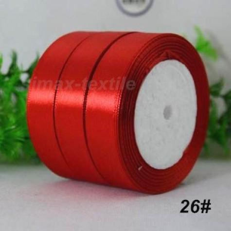 Лента атласная 25 мм. Красный, 26 Красный