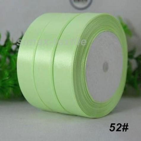Лента атласная 25 мм. Светло-зеленый, 52 Светло-зеленый