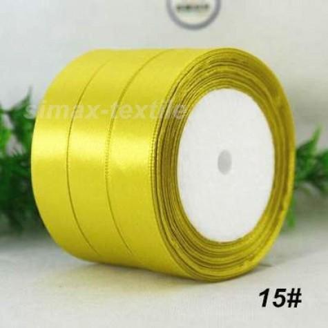 Лента атласная 25 мм. Лимонный, 15 Лимонный