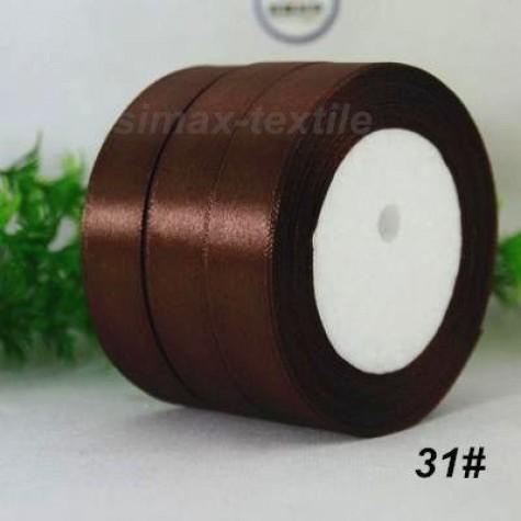 Лента атласная 25 мм. Шоколад, 31 Шоколад