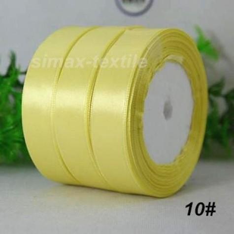 Лента атласная 25 мм. Палево-желтый, 10 Палево-желтый
