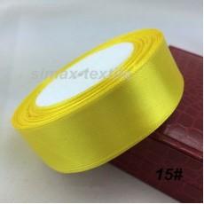 Лента атласная 16 мм. Желтый