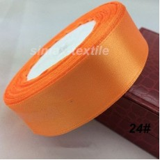 Лента атласная 16 мм. Тыквенно-оранжевый