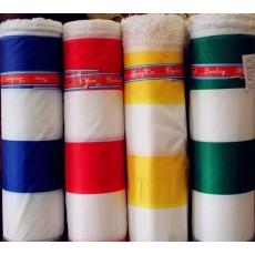 Палаточная ткань Полоска Зеленый+белый