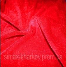 Велюр стрейч Красный (Отрез 1,1 пог.м)