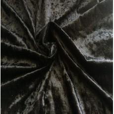 Велюр для одежды Мрамор Черный